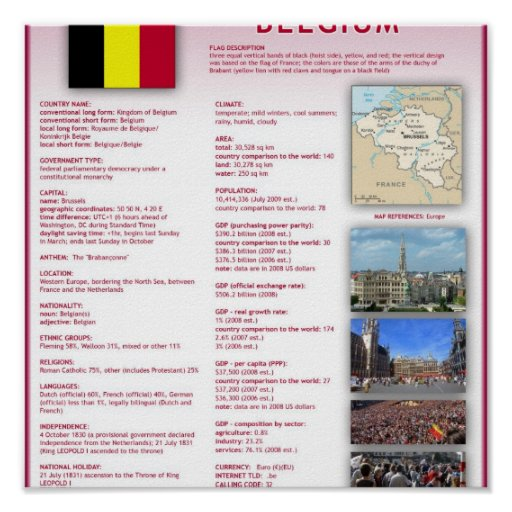 Belgium Print