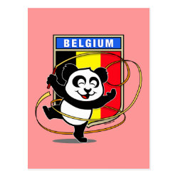 Postcard with Belgian Rhythmic Gymnastics Panda design