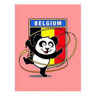 Belgium Rhythmic Gymnastics Panda Postcard