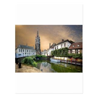 Belgium River Landscape Postcard