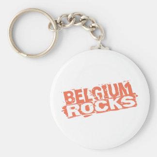 Belgium Rocks Keychain