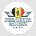Belgium Rocks v2 Classic Round Sticker