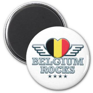 Belgium Rocks v2 Fridge Magnets