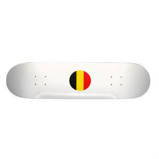Belgium Round Flag Design Skateboard Deck
