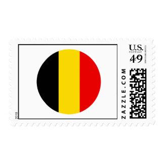 Belgium Round Flag Design Stamps