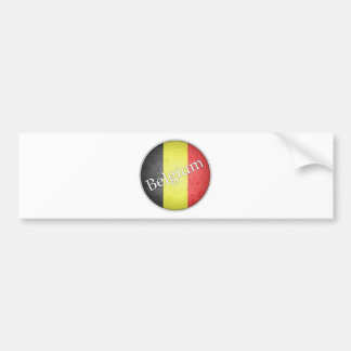 Belgium Round Grunge Flag Badge Bumper Sticker