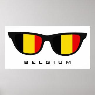 Belgium Shades custom text & color poster