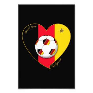 """BELGIUM"" Soccer 2014 and Belgian Football Team Photograph"
