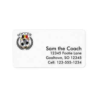 Belgium Soccer 2016 Fan Gear Label