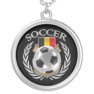 Belgium Soccer 2016 Fan Gear Silver Plated Necklace