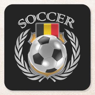 Belgium Soccer 2016 Fan Gear Square Paper Coaster