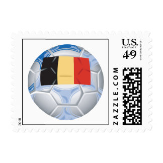 Belgium Soccer Ball Postage Stamps