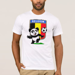 Men's Basic American Apparel T-Shirt with Belgium Football Panda design