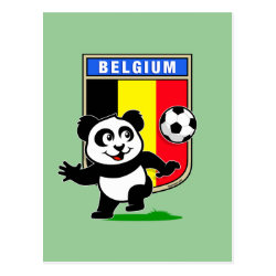 Postcard with Belgium Football Panda design