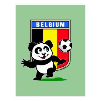 Belgium Soccer Panda Postcard