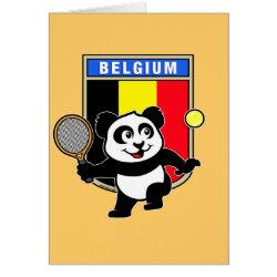 Greeting Card with Belgian Tennis Panda design