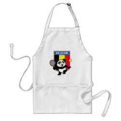 Apron with Belgian Tennis Panda design