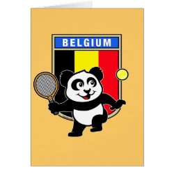 Greeting Card with Belgian Tennis Panda design