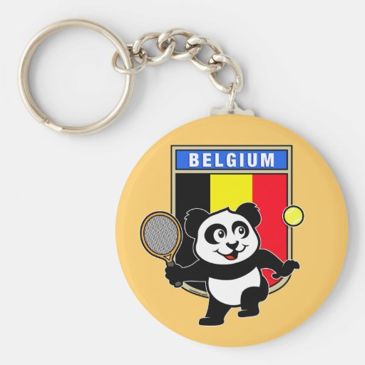 Belgium Tennis Panda Key Chains
