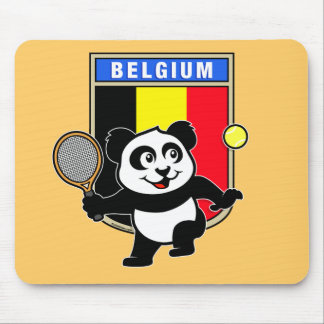 Belgium Tennis Panda Mouse Pad