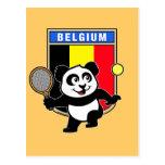Belgium Tennis Panda Postcard