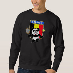 Men's Basic Sweatshirt with Belgian Tennis Panda design