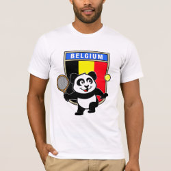 Men's Basic American Apparel T-Shirt with Belgian Tennis Panda design