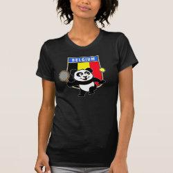 Women's American Apparel Fine Jersey Short Sleeve T-Shirt with Belgian Tennis Panda design