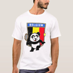 Men's Basic T-Shirt with Belgian Tennis Panda design