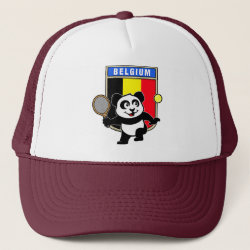 Trucker Hat with Belgian Tennis Panda design