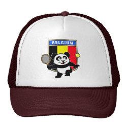 Trucker Hat with Belgian Tennis Panda design