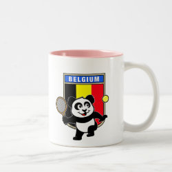 Two-Tone Mug with Belgian Tennis Panda design