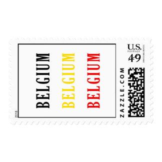 Belgium Text Flag Design Stamp