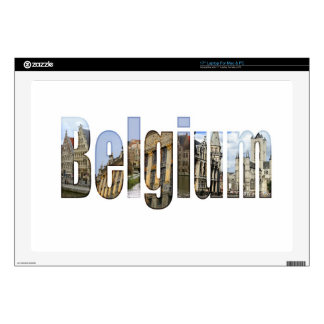 Belgium tourist attractions in letters laptop decal