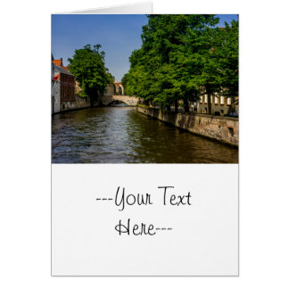 Belgium Travel Photography, Bruges Canal Card