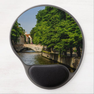 Belgium Travel Photography, Bruges Canal Gel Mousepad