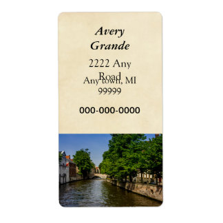 Belgium Travel Photography, Bruges Canal Label