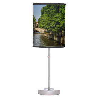 Belgium Travel Photography, Bruges Canal Table Lamp