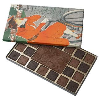 Belgium Vehicle Ad 1898 45 Piece Box Of Chocolates