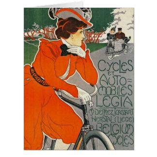 Belgium Vehicle Ad 1898 Card