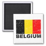 Belgium Vintage Flag 2 Inch Square Magnet