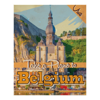 Belgium vintage Travel Poster. Poster