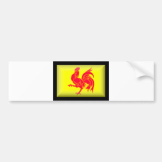 Belgium-Walloon Flag Bumper Sticker