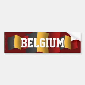 Belgium Waving Flag Bumper Sticker