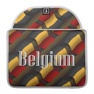Belgium Waving Flag Sleeves For MacBook Pro