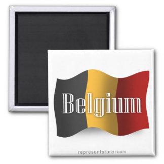 Belgium Waving Flag Fridge Magnet