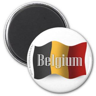Belgium Waving Flag Refrigerator Magnet