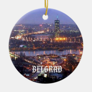 Belgrad Serbia Circle Ornament