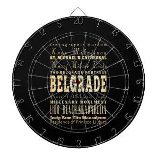 Belgrade City of Serbia Typography Art Dart Board