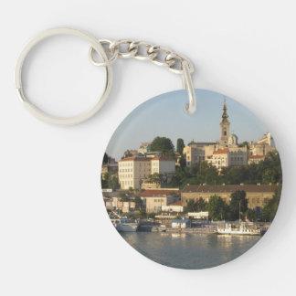 Belgrade Double-Sided Round Acrylic Key Ring